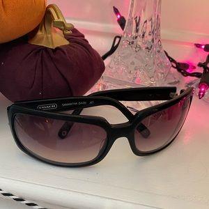 Coach sunglasses with pink rhinestones